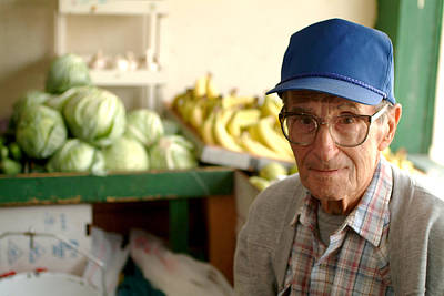 Photograph - Harry The Produce Man by Don Wolf
