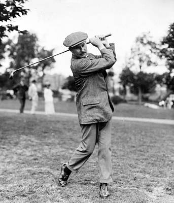 Harry Vardon - Golfer Print by International  Images