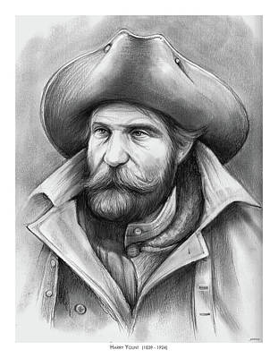 Drawing - Harry Yount by Greg Joens