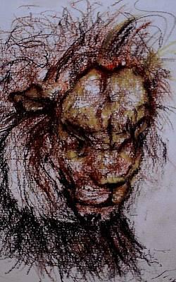 Synesthesia Drawing - Harsh by Arlene Rabinowitz