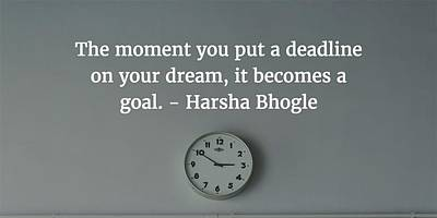 Photograph - Harsha Bhogle Quote by Matt Create