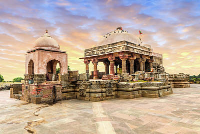 Harshat Mata Temple  Art Print