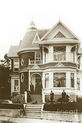 Photograph - Hart Mansion At Lighthouse Ave. And 19th Street. by California Views Mr Pat Hathaway Archives