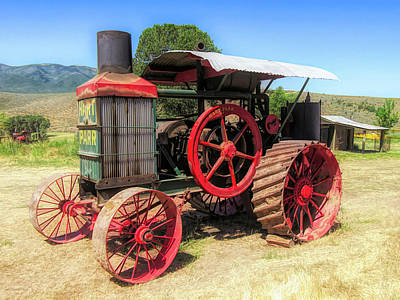 Photograph - Hart Parr 1911 30 60 Tractor by David King