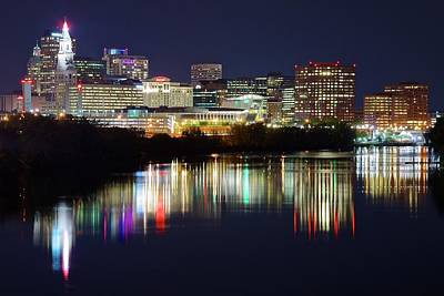 Photograph - Hartford 2016 Late Night by Frozen in Time Fine Art Photography