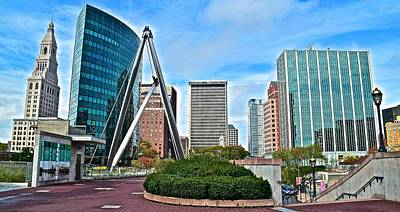Hartford Daylight Panorama Art Print by Frozen in Time Fine Art Photography