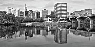 Photograph - Hartford Grayscale Panorama by Frozen in Time Fine Art Photography