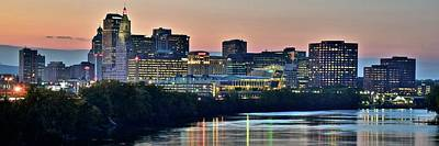 Photograph - Hartford In Panoramic Sunset by Frozen in Time Fine Art Photography