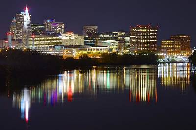 Photograph - Hartford Night by Frozen in Time Fine Art Photography