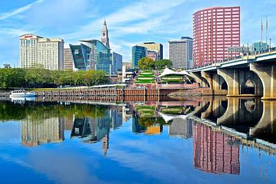 Photograph - Hartford Reflects by Frozen in Time Fine Art Photography