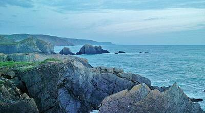 Devon Photograph - Hartland Quay At Dusk by Richard Brookes