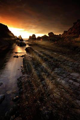 Photograph - Hartland Quay Sunset by Mark Leader