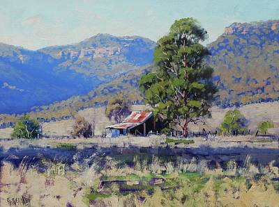 Nature Scene Painting - Hartley Farm Shed by Graham Gercken