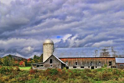 Photograph - Hartshorn Farms Abandoned Barn # 2 by Allen Beatty