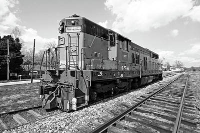 Photograph - Hartwell Railroad Sd7 #454 B W 1 by Joseph C Hinson Photography
