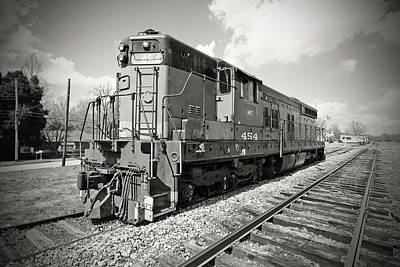 Photograph - Hartwell Railroad Sd7 #454 B W 2 by Joseph C Hinson Photography