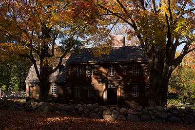 Photograph - Hartwell Tavern In Fall Foliage  by Jeff Folger