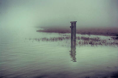 Sheppey Photograph - Harty Ferry In The Fog by Dave Godden