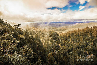 Lookout Photograph - Hartz Mountains To Wellington Range by Jorgo Photography - Wall Art Gallery
