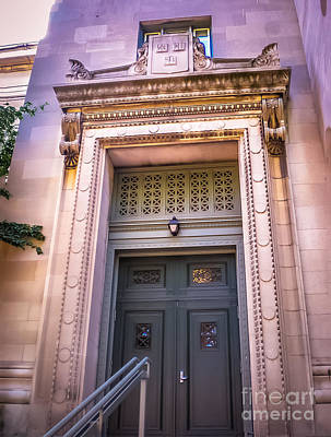 Ambition Photograph - Harvard Building Entrance by Claudia M Photography