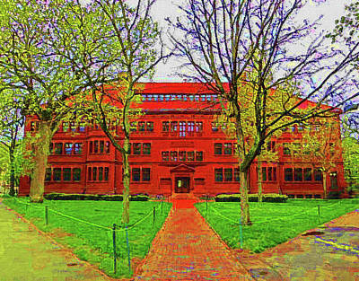 Harvard Mixed Media - Harvard by DJ Fessenden