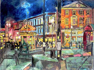 Harvard Painting - Harvard Square 1 by Sean Moore