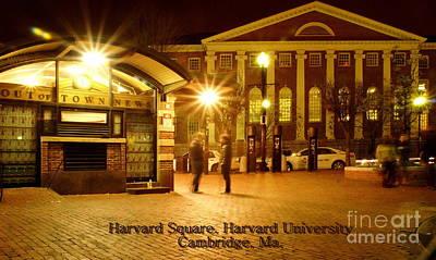 Harvard Wall Art - Photograph - Harvard  Square by Frank Garciarubio