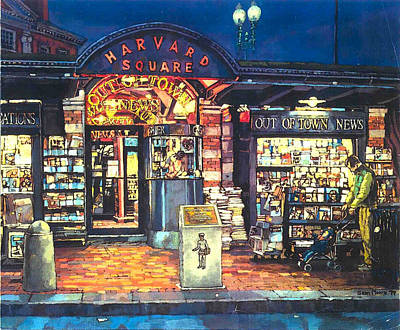 Harvard Square  Out Of Town News  Art Print