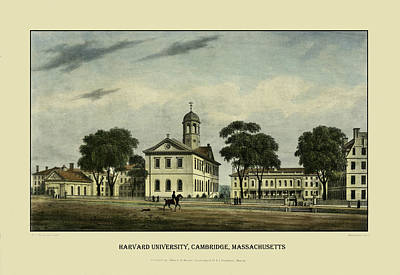 Photograph - Harvard University 1828 by Andrew Fare