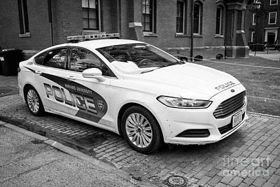 harvard university campus police patrol vehicle Boston USA Art Print
