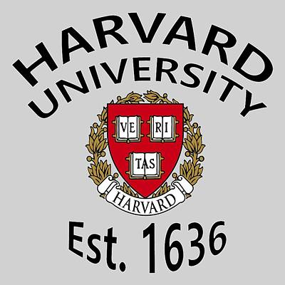 Cambridge Digital Art - Harvard University Est 1636 by Movie Poster Prints