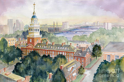 Cambridge University Painting - Harvard University by Melly Terpening