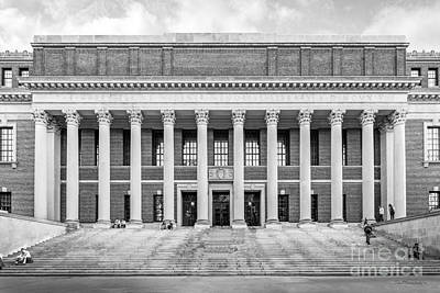 Widener Library At Harvard University Art Print by University Icons