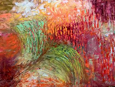 Painting - Harvest Abstract by Nicolas Bouteneff
