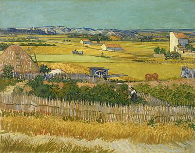 Painting - Harvest At La Crau by Vincent Van Gogh