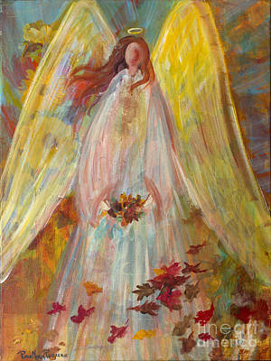 Painting - Harvest Autumn Angel by Robin Maria Pedrero