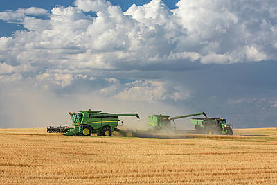 John Deere Wall Art - Photograph - Harvest Clouds by Todd Klassy