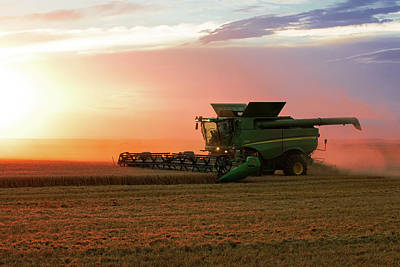 Machinery Photograph - Harvest Colors by Todd Klassy