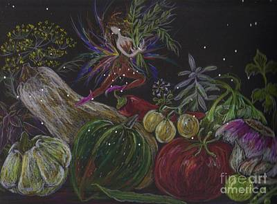 Drawing - Harvest by Dawn Fairies