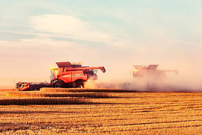 Agriculture Photograph - Harvest Dust by Todd Klassy