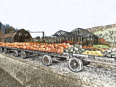 Photograph - Harvest Flatbed by Leslie Montgomery