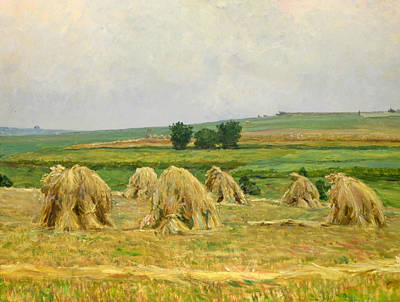 Painting - Harvest by Frantisek Kavan