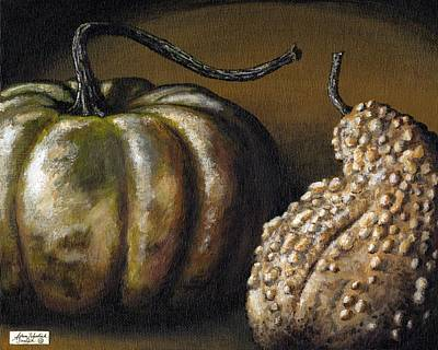 Harvest Gourds Art Print by Adam Zebediah Joseph