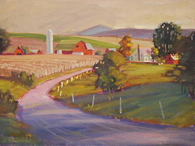 Painting - Harvest In Upstate New York by Len Stomski