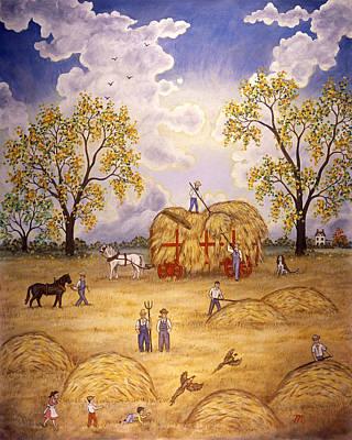 Pheasant Painting - Harvest by Linda Mears