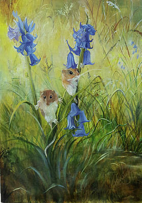 Wall Art - Painting - Harvest Mice by Penny Golledge
