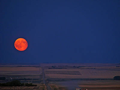 Photograph - Harvest Moon by Blair Wainman