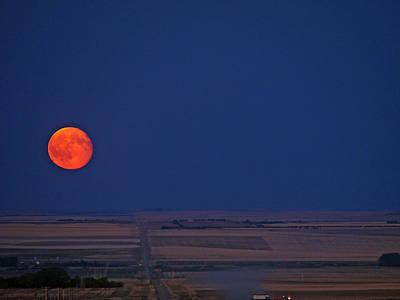 Photograph - Harvest Moon by Blair Wainman