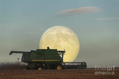 Photograph - Harvest Moon by Brad Allen Fine Art