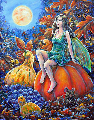 Painting - Harvest Moon by Gail Butler